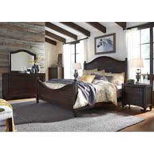 traditional dark brown 4 piece queen bedroom set catawba rc willey furniture