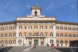 Palazzo Montecitorio At The Piazza Montecitorio In The Old Town.. Stock  Photo, Picture And Royalty Free Image. Image 132892981.