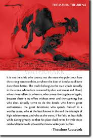 Details About The Man In The Arena Theodore Roosevelt Quote Poster Photo Print Art Mma Bjj