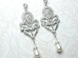 pearl and diamond chandelier earrings antique