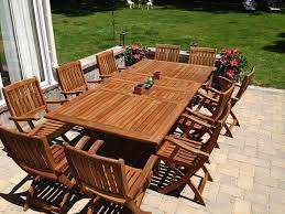 teak outdoor dining table 47 x 96 two