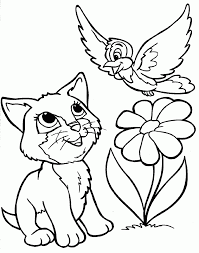 Small Picture Coloring Pages Free Printable Cat Coloring Pages For Kids Cute