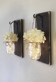 mason jar wall sconce diy home decor