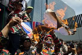 week in news abc news n broadcasting corporation   n protesters burn n flag