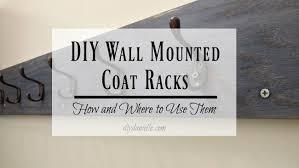 Diy Wall Mounted Coat Rack Stunning DIY Wall Mounted Coat Racks DIY Danielle