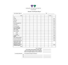 Travel And Expenses 46 Travel Expense Report Forms Templates Template Archive