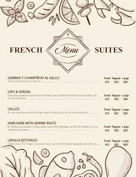 Cafe Menu Template French Cafe Menu Template And Background Menu Template