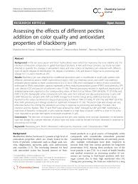 Pectin Content Of Fruits Chart Pdf Assessing The Effects Of Different Pectins Addition On
