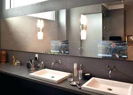 bathroom mirrors with tv behind it post bathroom mirror tv diy
