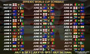 World Cup 2019 Schedule And Time Table With Schedule Pic