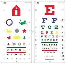Amazon Com Snellen Color Eye Chart And Pediatric Color