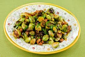golden roasted brussel sprouts with