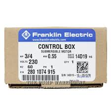 franklin qd control box 3 4 hp 230v designed for use franklin 3 wire single phase submersible motor