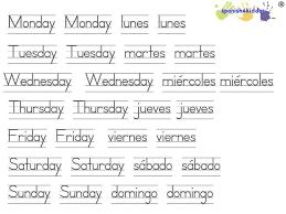 Saved Days Of The Week In Spanish Spanish4kiddos Tutoring. English ...