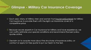 military car insurance quote know who has the est car insurance for military