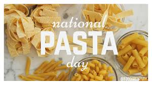 October 17th is National Pasta Day! | Foodimentary - National Food ...