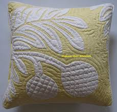 Hawaiian Quilt Wholesale & Breadfruit 4-OY<br>2 pillow covers Adamdwight.com
