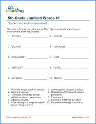 Handwriting Spelling Vocab Worksheets School With Vocabulary ...