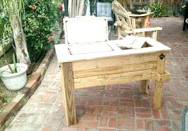 wooden patio cooler box coolers on rustic wood stand pallet ice chest build a full