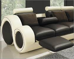 Pictures Gallery of Lovable Two Tone Leather Sofa Unique Leather Two Tone  Grey And Chocolate Sectional Sofa Modern