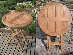 teak 60cm round folding table