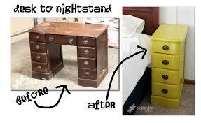 diy repurposed furniture. Make A Nightstand From Desk Diy Project Idea Repurposed Furniture