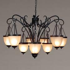 antique 9 light twig black wrought iron rustic chandelier regarding decorations 1