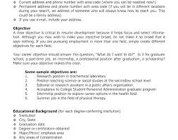 Sample Resume Objectives Server Resume Objective Samples Brilliant