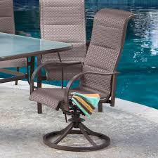 Set of 2 Coral Coast Del Rey Padded Sling Swivel/Rocker Dining ...