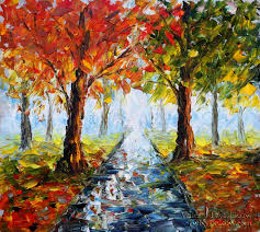 landscape oil painting autumn nature 145 by valery rybakow painting