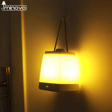 iminovo portable lantern hanging night lights usb hand lamp emergency light indoor and outdoor led lights book lamps in night lights from lights lighting
