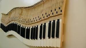piano keys wall art