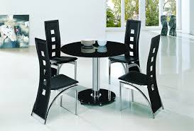 round dining room sets for 4. Enchanting Black Dining Table And 4 Chairs In Tables Modern Round Room Sets For