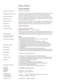 Nursing Resume Sample Writing Guide 122214620008 Experienced