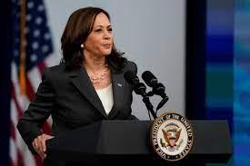 US Vice-President Kamala Harris will ...