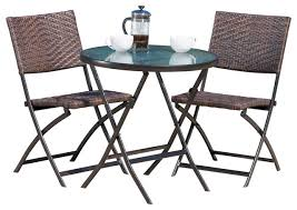 Riviera 3piece Outdoor Wood Bar Set By Christopher Knight Home Three Piece Outdoor Furniture