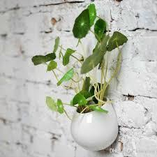 4 Super White Ceramic Wall Planters,Indoor Hanging Ceramic Pot,Wall  Succulent Holder,Table Ceramic Vases,Art Home Decor Desk Ceramic Vase  Ceramic Planter ...
