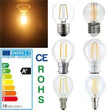 Led Virtual Filament Light Bulb 2w 4w G45 Led Filament Mini Globe Small Bulb Antique Clear Golf Ball Light Bulbs