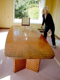 Custom Figured Redwood Dining Table By Westwood Design Custommadecom
