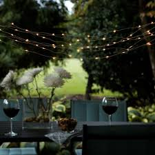 solar outdoor integrated led copper string light set with solar panel com