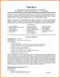 Retail Management Resume Sop Proposal