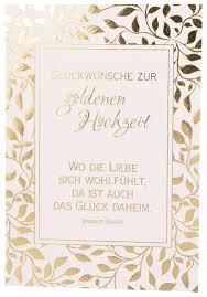 Karte Zur Goldenen Hochzeit Wo Die Liebe Sich Wohl Fühlt