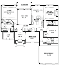 plans 4 bedroom one story house plans wonderful with picture of minimalist new in gallery