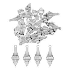 20pcs crystal acrylic beads hanging pendant chandelier wedding party home decor