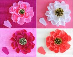How To Make Flower Using Crepe Paper 12 Diy Crepe Paper Flower Tutorials How To Make Crepe Paper Flowers