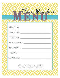 menu planner worksheet 30 family meal planning templates weekly monthly budget tip junkie