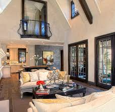 Living Room China Cabinet Rustic French Doors Living Room Rustic With Cabin Chandelier China