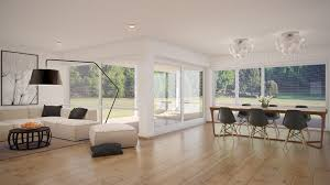 ... Living Room, Living Room Combination Of Living Room And Dining Room  White Gray Luxury Kitchen ...