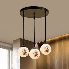country sphere multi hanging light