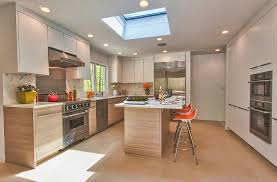 ... Simple and stylish way to add the skylight to the kitchen [Design:  Poggenpohl]